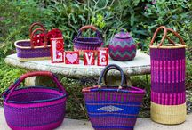 Love is in the air... Valentine's gifts! / Bolga baskets are so beautifully made and wonderfully useful.  They make someone special a wonderful gift.