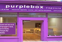 purplebox vapours / Leading supplier of electronic cigarettes, e-juices and vaping kits in Ireland. Serious about our business - having fun with vaping.