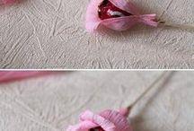 kwiatki z krepiny