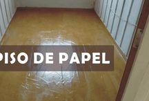 piso de papel crafte
