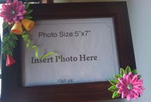 quilled photo frame / quilled photo frames