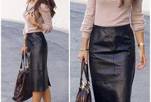 Fashion ideas - leather skirt