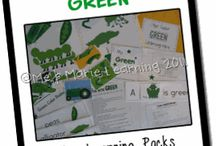 Colors Learning / Preschool, kindergarten, early elementary theme / unit curriculum, crafts, songs, finger plays, printables, games, math, science, ideas.