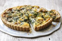 Quiches and salads