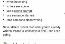 Writing prompts/tips