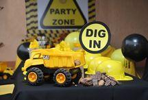 Ashton's digger birthday