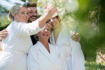 Blue & White Palm Garden Wedding in Crete
