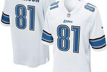 Calvin Johnson Nike Elite Jersey – Authentic Lions #81 Blue White Jersey