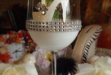 Wine glass decorating