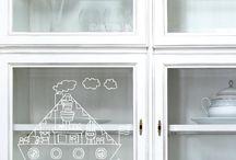 sint en kerst raam versiering