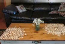 Stencils on furniture