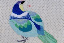 embriodery birds