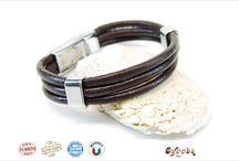 Leather bracelet for man & boho style