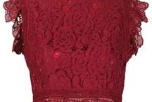Top lace red