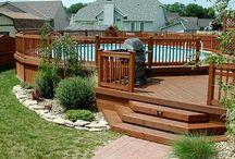Landscaping-around-deck