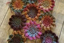 shawl japanese flowers