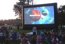 Inflatable Movie Screens / Inflatable Movie Screens are great for movies in the park! They are also great for backyard parties and school events!