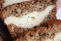 Cheesecake stuffed banana bread