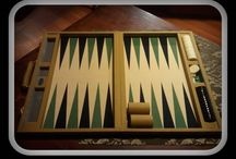 Customer Backgammon Boards - without a logo / Board displaying the backgammon boards of previous clients.  It will show you the huge range of different styles and colours that you can choose.  The only limitation is your own imagination.
