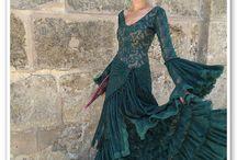 Vestido faralaes verdeModa