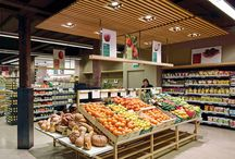Supermarket design fruit and vegetables