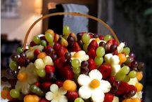 arranjos de cestos de fruta