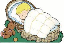 Sleeping baby clip art / Sleeping baby clip art