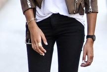 brown biker jacket outfit