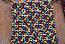 Net af clips og min farvet garn