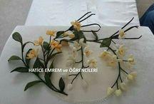 koza çiçek yapimi