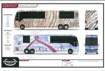"""Marathon Coach Paint Design Contest for Kids (of all ages) / Recently, Marathon employees, family members and the public at large were invited to embark on a creative adventure as we hosted our first Paint Design Contest for Kids (of all ages). Challenged to design their own stunning Marathon Show Coach in two theme categories, Patriotic and General Paint Rendition, people participated with gusto, sharing work that spanned the imaginative, the colorful, the beautiful and more. Results will be unveiled in the fall edition of """"The Maratime."""""""