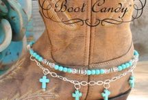 Boot Candy Boot Bracelets /  Fashionable jewelry for your cowgirl boots or your fashion boots. Boot Candy is the best thing to happen to your cowgirl boots since you broke them in.