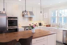 Tranquil Kitchen / Specie: Maple Finish: Tranquil Overlay: FOLC Door Style: Thompson Drawer Style: Slab  Designer:  Mike Bliss @ Cabinet Discounters - Gaithersburg, MD