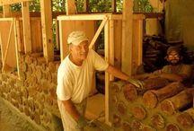 Srěny dřevo - cordwood cabin
