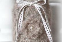 crochet con hilo rustico
