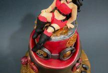 Steampunk Christmas Cake