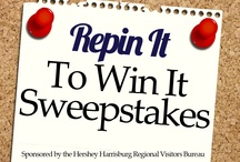 Repin It To Win It Sweepstakes / The Hershey Harrisburg Region located in driving distance from Philadelphia, New York City, Baltimore, and Washington D.C., and is the perfect destination for Work, Play, Family, Friends, History, Shopping, Culture, Adventure – Whatever the season, whatever your reason, we invite you to discover what makes the Hershey Harrisburg Region truly unique!  *ENTER TO WIN the below prizes by REPINNING an image and POSTING A COMMENT. SWEEPSTAKES ENDS JULY 27, 2012. Rules Facebook.com/HersheyHarrisburg