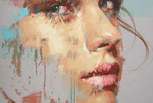 painted portraits