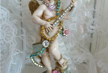 cherubs angels wings crowns hearts ex-voto