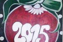 Acrylic painting Christmas / Celebrate the season