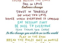 how to live... :) / by Rachel Faye