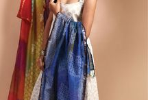 Indian traditional wear / Indian fabrics blend with style by Poshakh.