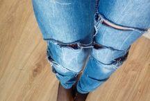 Damska moda :) / Dziury w spodniach? Chockery? Modne!