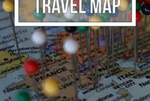 Trave wall map