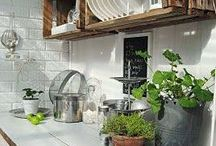 Kitchen cabinet outdoors