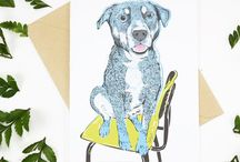 Dog People: Paper & Stamps / Dogs on cards, calendars, notebooks, and sticky notes.  Super fun rubber stamps. Wooftastick!