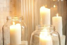 Bathroom ideas / Candles in sand