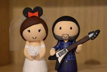 Creative wedding toppers