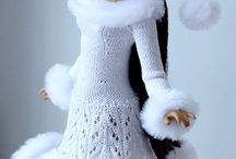 Fashion doll knitting, crochet and sewing