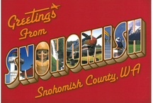 About Us / Snohomish (sno-HOH'-mish) County. A mixture of small towns, city expereinces, farmlands, mountains, and of course plenty of water.  Less than 100 miles from Canada and close to everything else.